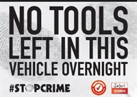 Tool Theft Sticker Image